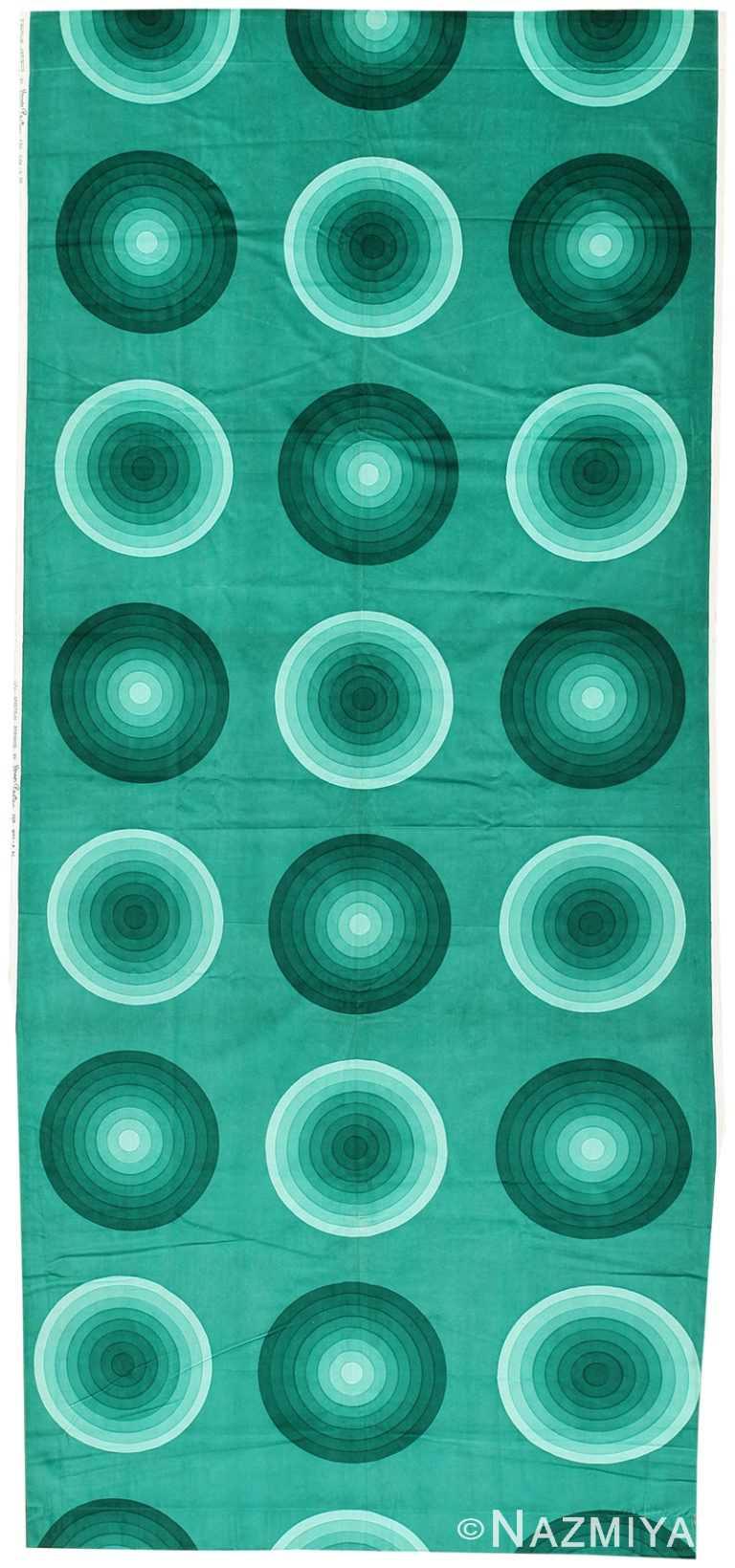 Vintage Scandinavian Verner Panton Kreis Textile 47733 by Nazmiyal NYC
