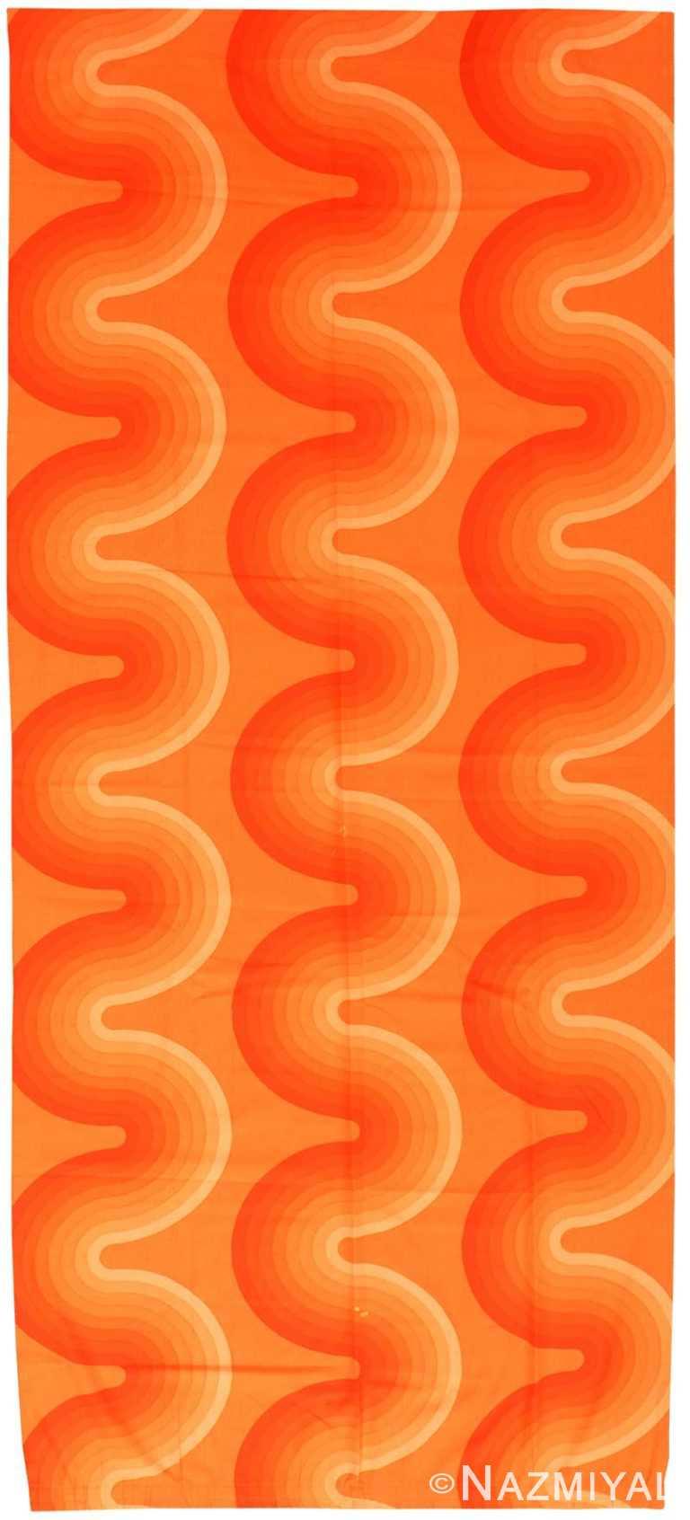 Vintage Scandinavian Verner Panton Kurve Textile 47821 by Nazmiyal NYC