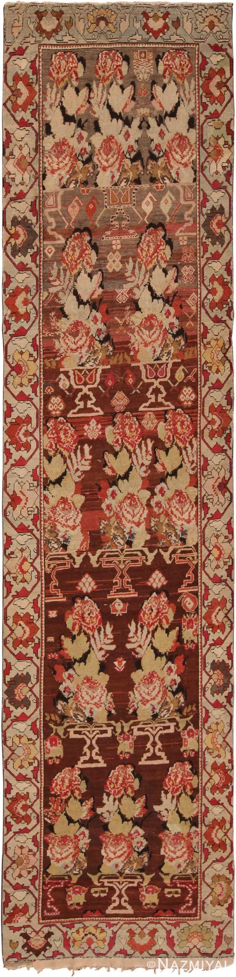 Antique Caucasian Karabagh Runner Rug 70423 by Nazmiyal NYC