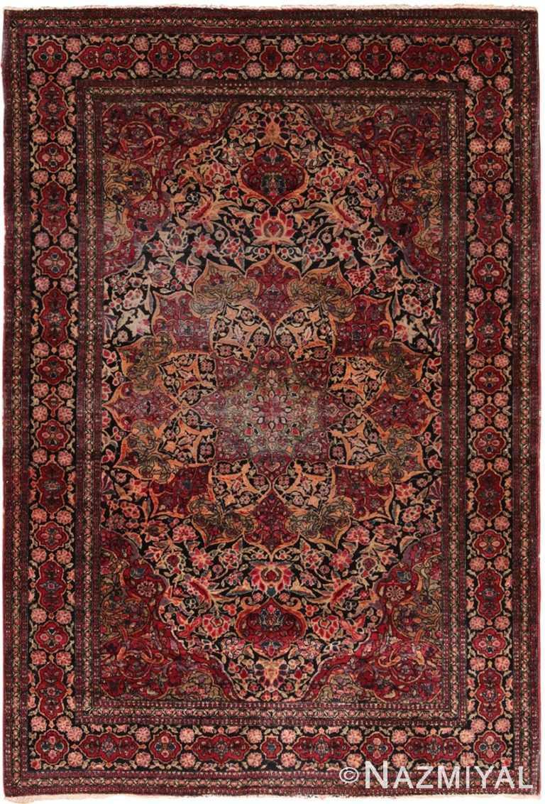 Antique Persian Floral Isfahan Rug 70476 by Nazmiyal NYC