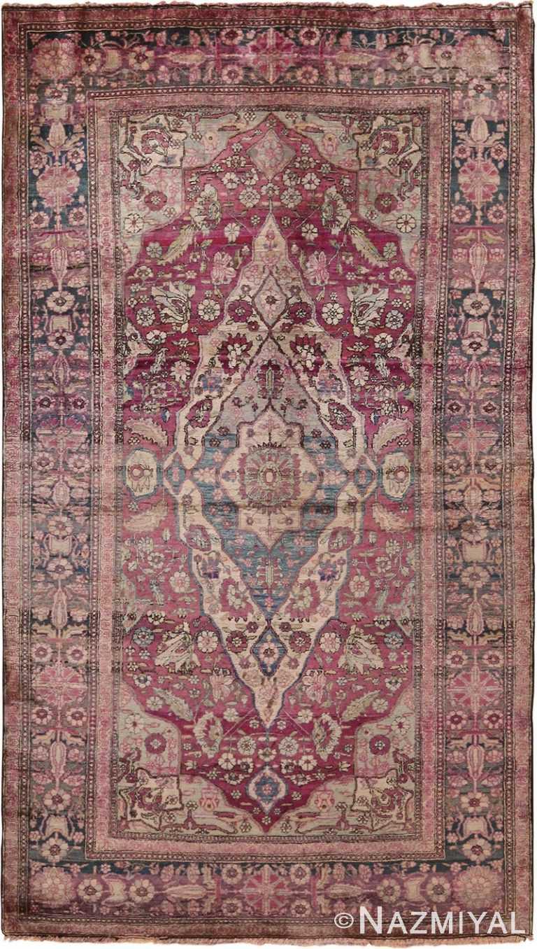 Antique Persian Mohtasham Kashan Rug 70469 by Nazmiyal NYC