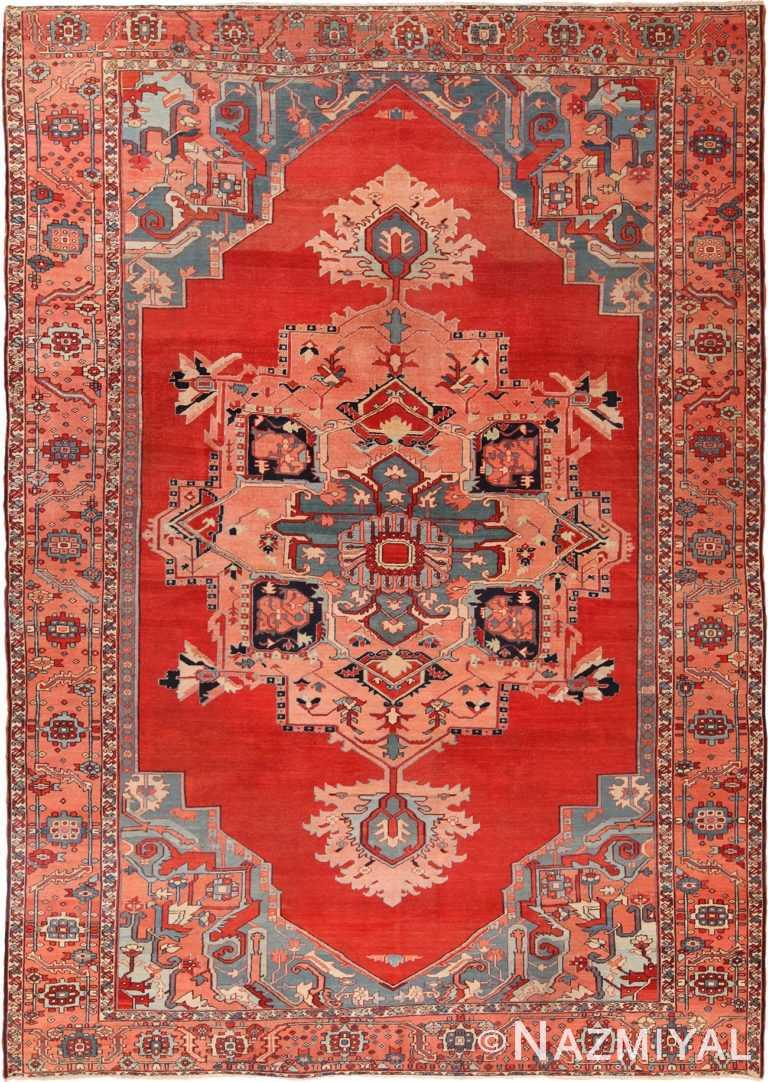 Antique Persian Serapi Rug 70548 by Nazmiyal NYC