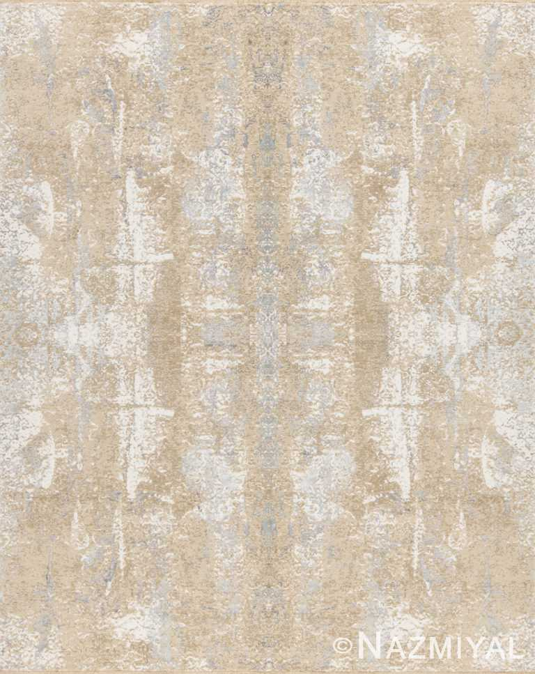 Beige Grey Beach House Rug 93110833 by Nazmiyal NYC