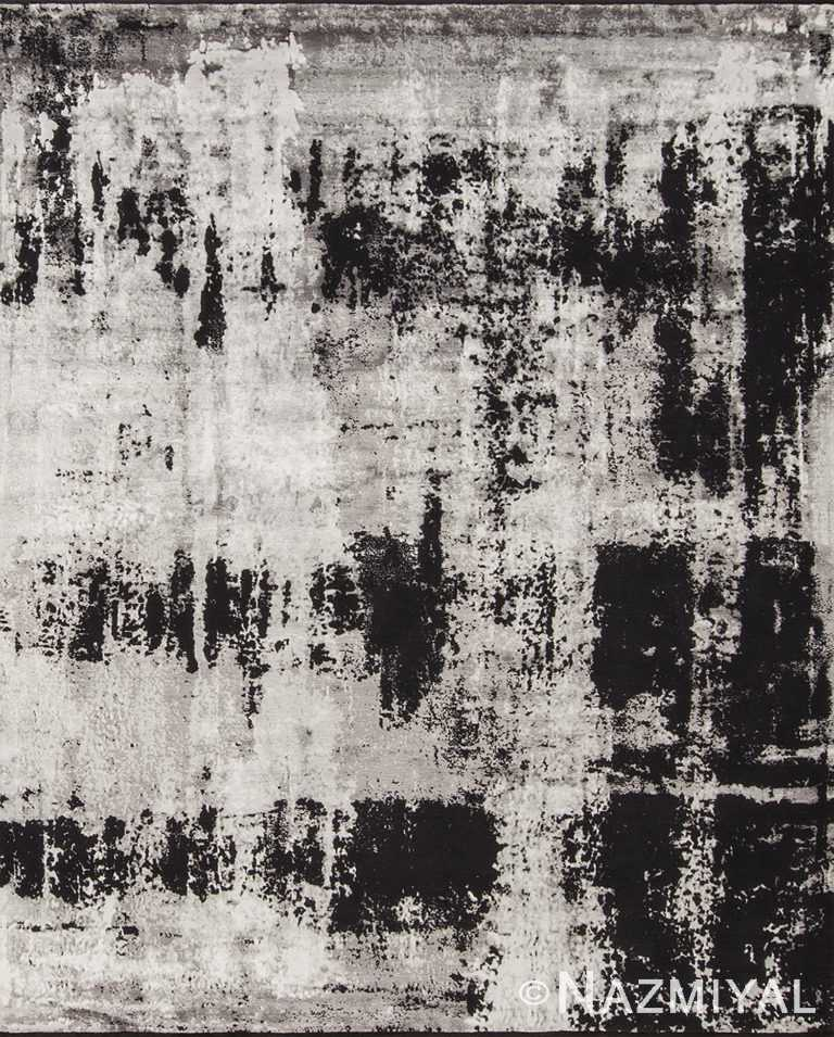Dark Shadows Black And White Rug 95210527 by Nazmiyal NYC