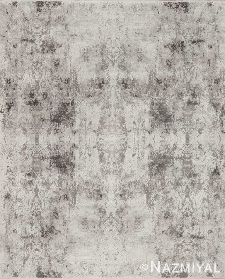 Geometric Light Grey Boutique Rug 94068628 by Nazmiyal NYC