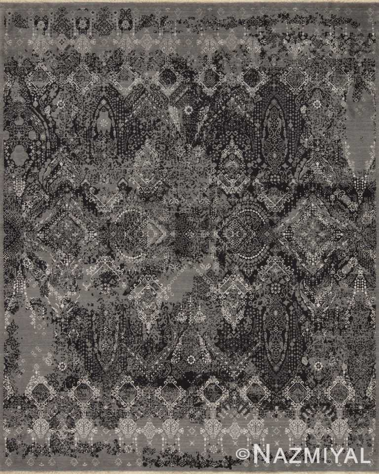 Graphite Black Los Angeles Rug 92091231 by Nazmiyal NYC