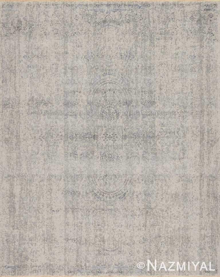 Grey Blue Beach House Rug 93110279 by Nazmiyal NYC