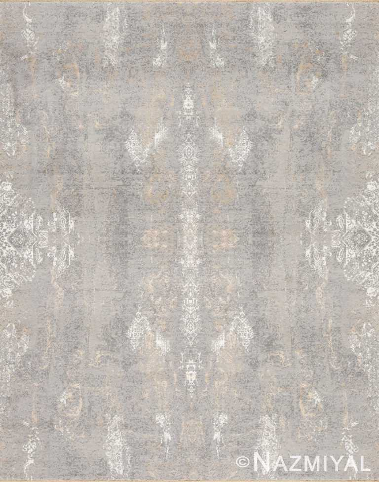 Grey Gold Beach House Rug 93111094 by Nazmiyal NYC