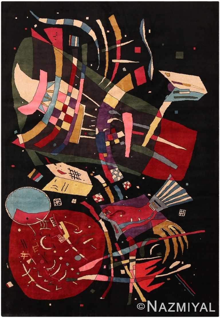Modern Kandinsky Inspired Art Rug 70551 by Nazmiyal NYC
