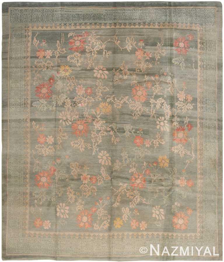 Vintage Nepalese Floral Rug 70359 by Nazmiyal NYC