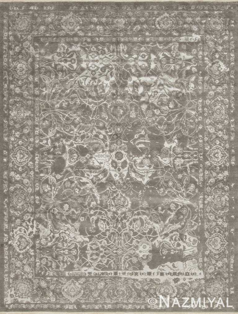 Shiny Grey Los Angeles Rug 92092015 by Nazmiyal NYC