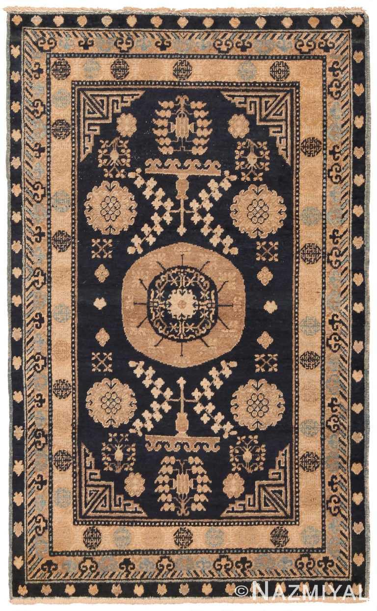 Small Blue Background Antique Khotan Rug 70382 by Nazmiyal NYC