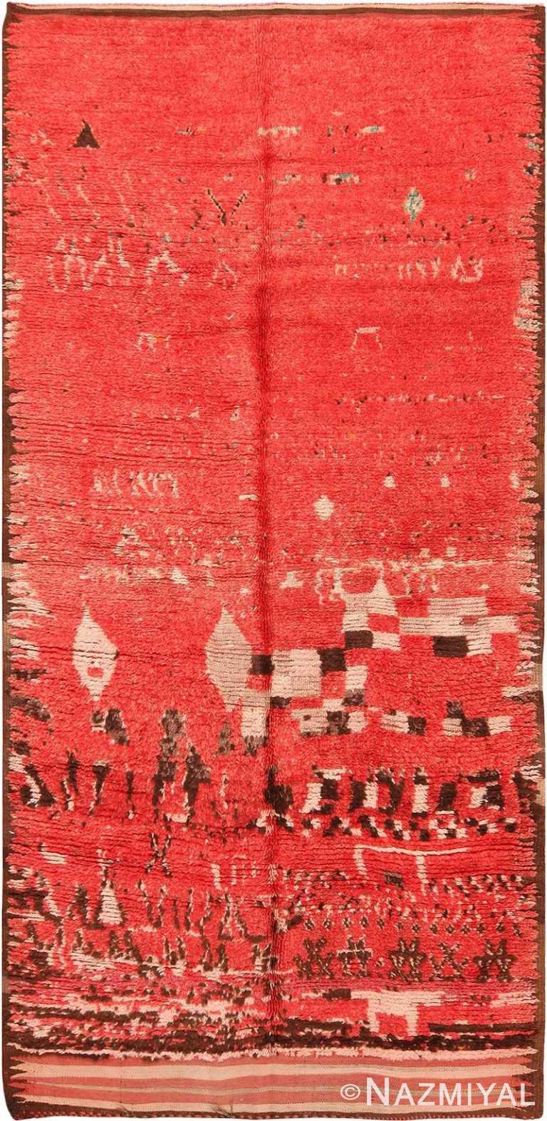 Vintage Berber Moroccan Red Rug 70538 by Nazmiyal NYC