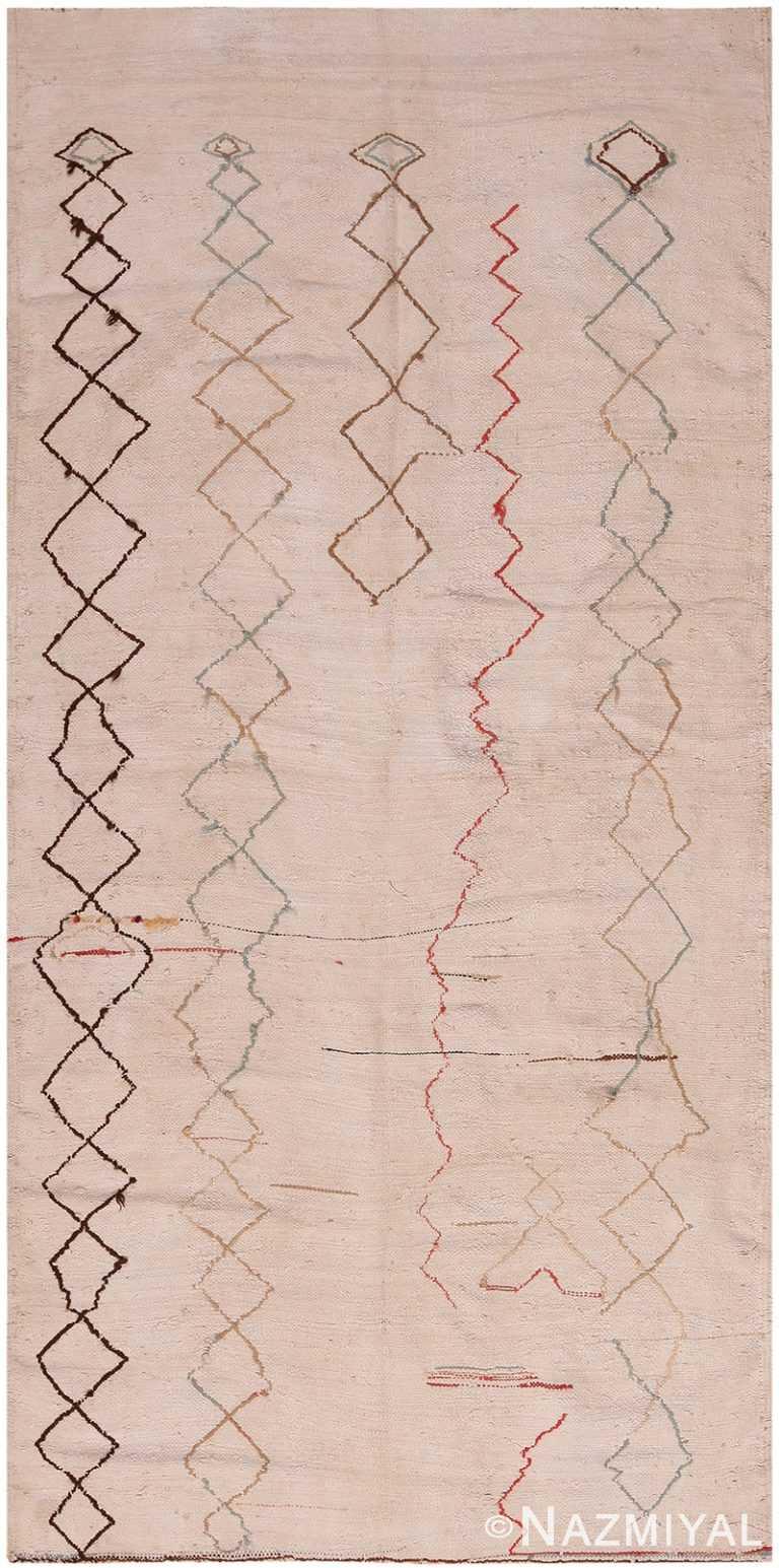 Vintage Moroccan Kilim Rug 70544 by Nazmiyal NYC