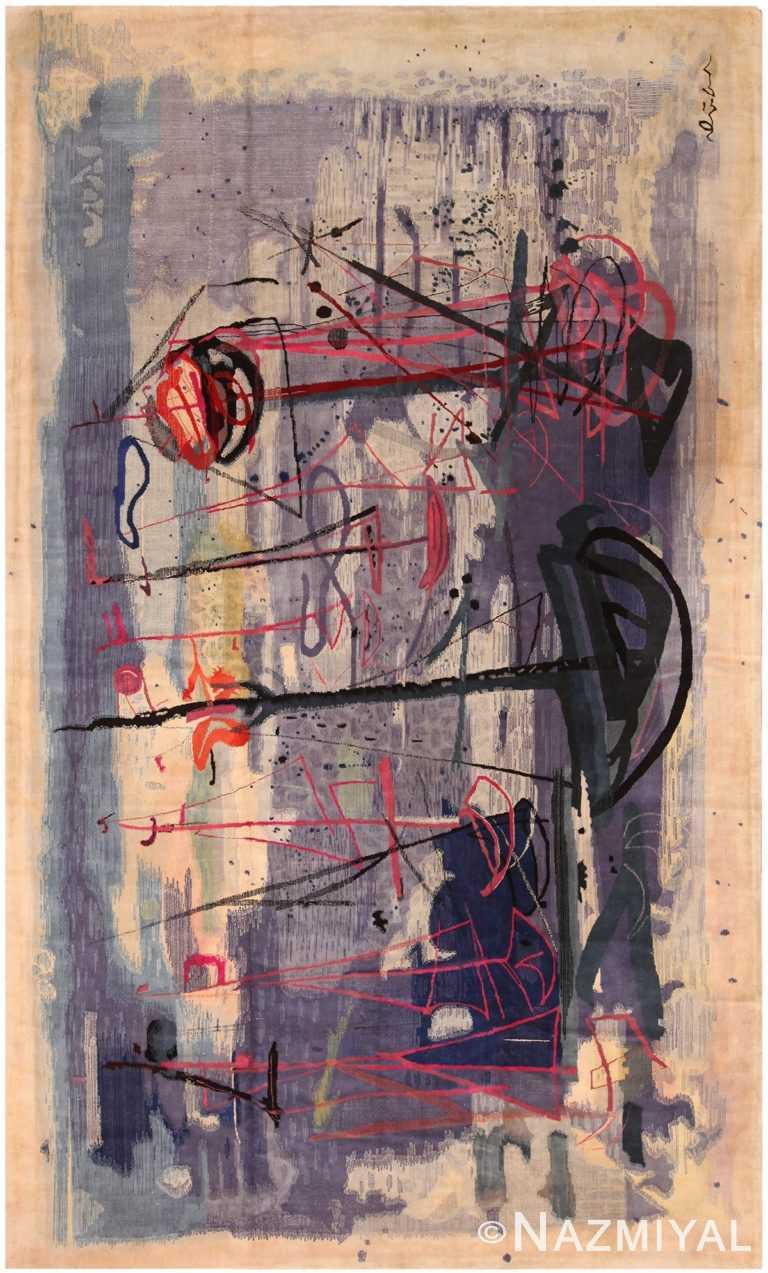 Vintage Art Expressionist Rug 70547 by Nazmiyal NYC