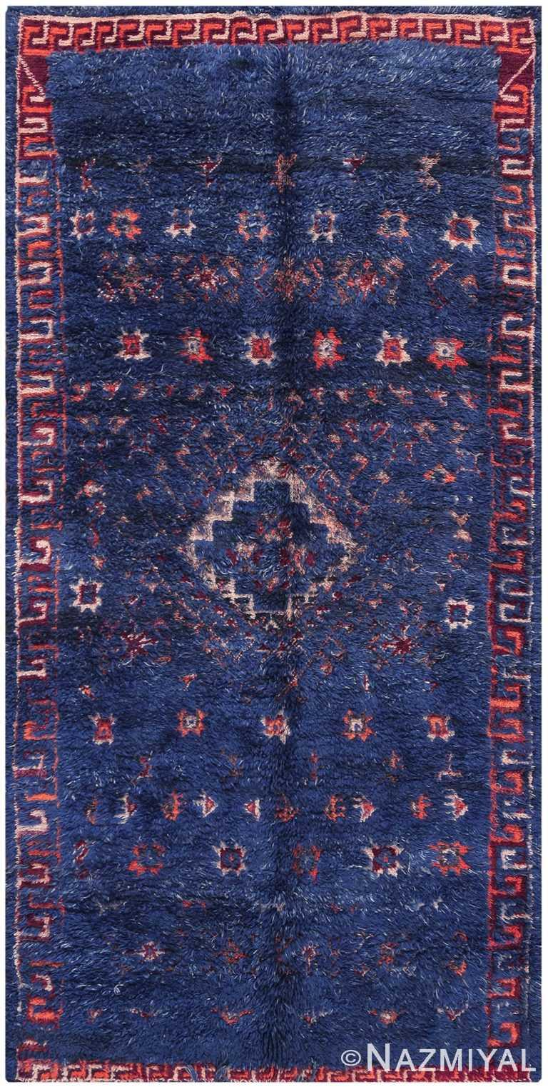 Vintage Berber Moroccan Blue Rug 70535 by Nazmiyal NYC