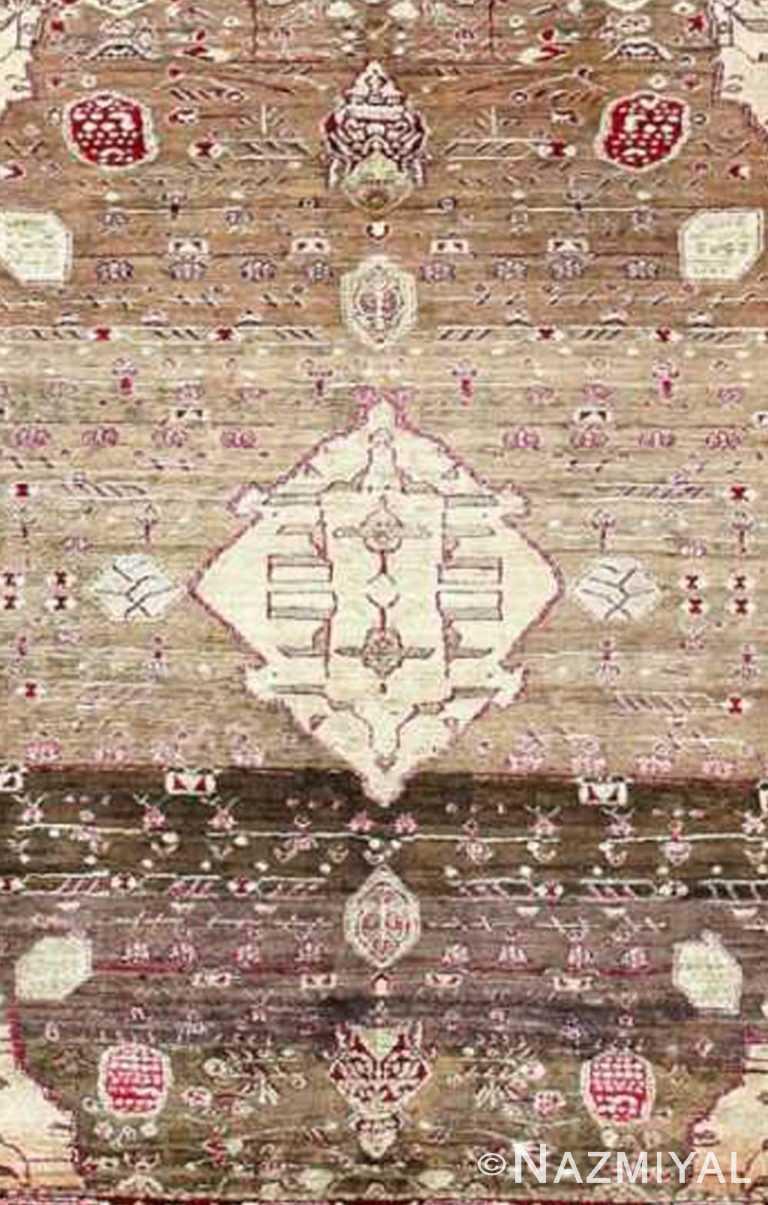 Breathtaking Rare Antique Silk Agra Rug 47596 by Nazmiyal NYC
