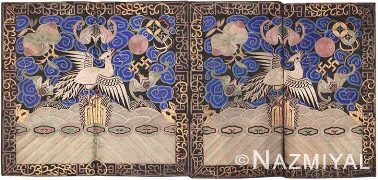Antique Chinese Rank Badge 46119 by Nazmiyal NYC