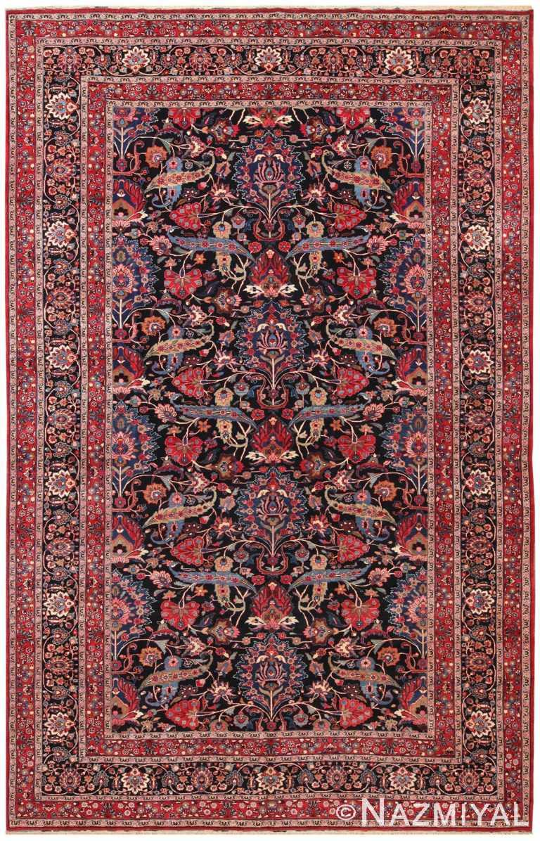 Antique Floral Persian Khorassan Rug 70600 by Nazmiyal NYC