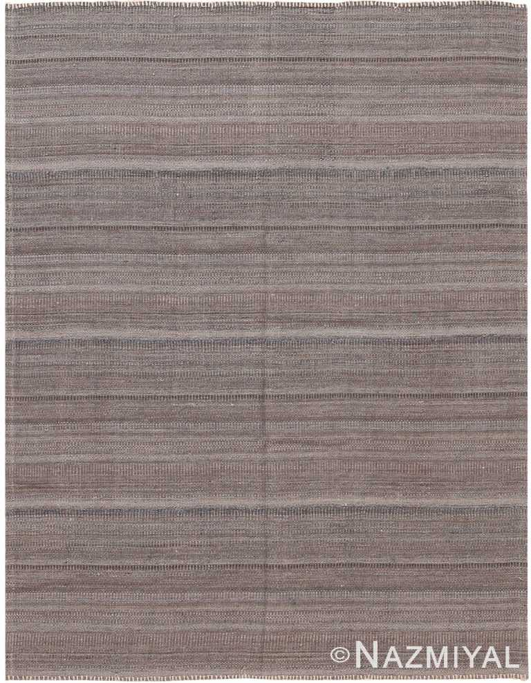 Brown Modern Persian Kilim Rug 60087 by Nazmiyal NYC