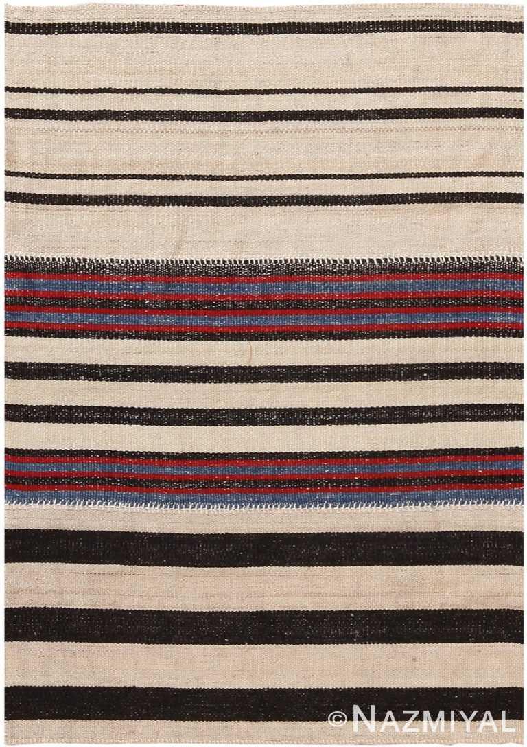 Modern Persian Flat Weave Rug 60098 by Nazmiyal NYC