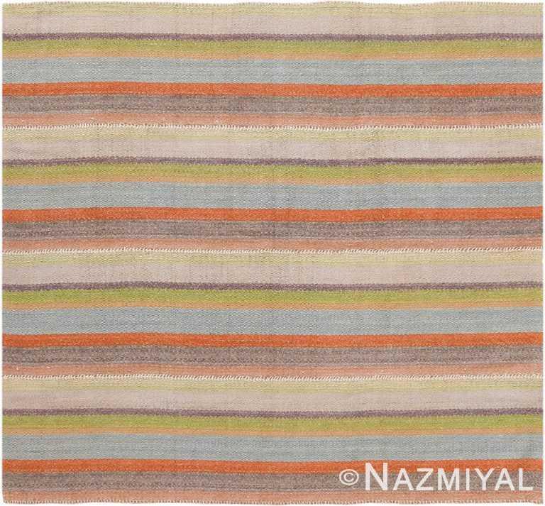 Modern Persian Flat Weave Rug 60099 by Nazmiyal NYC