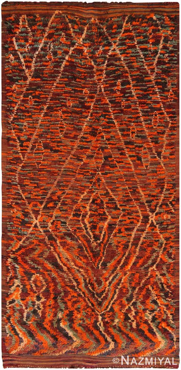 Primitive Vintage Moroccan Rug 70563 by Nazmiyal NYC