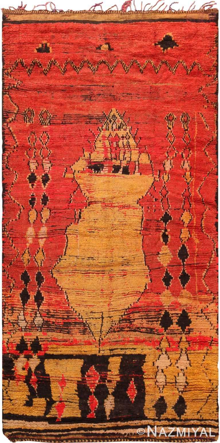 Primitive Vintage Moroccan Rug 70569 by Nazmiyal NYC