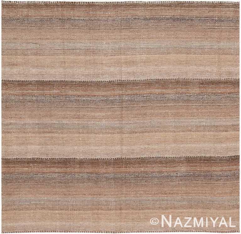 Small Brown Modern Persian Kilim Rug 60094 by Nazmiyal NYC