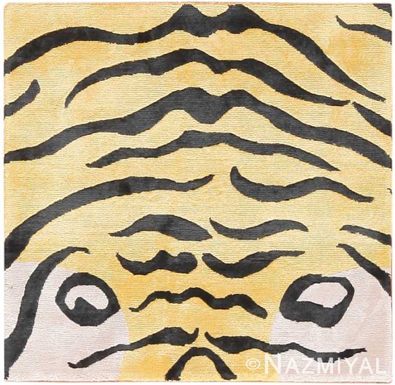 Small Silk Modern Tiger Rug 60107 by Nazmiyal NYC