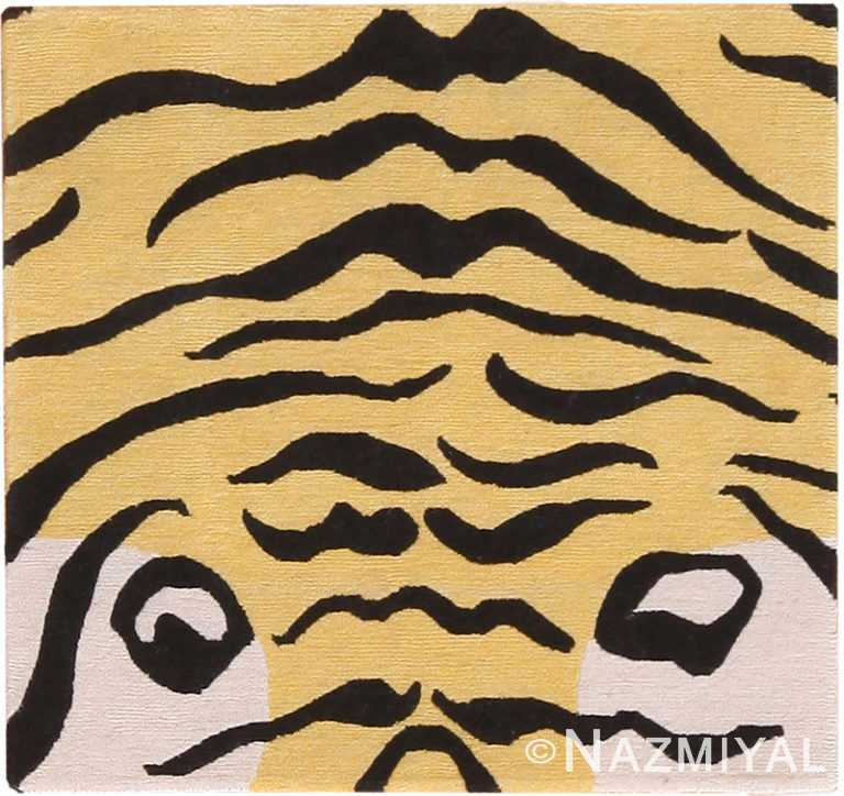 Small Wool Modern Tiger Rug 60105 by Nazmiyal NYC