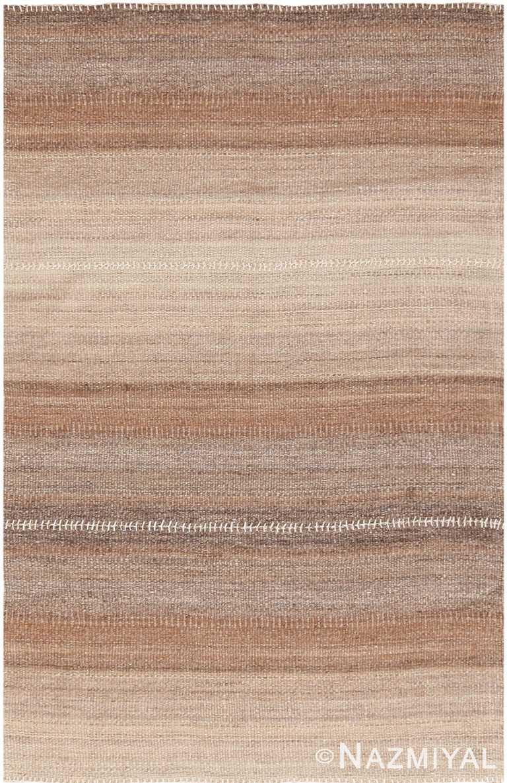 Soft Brown Modern Persian Kilim Rug 60092 by Nazmiyal NYC