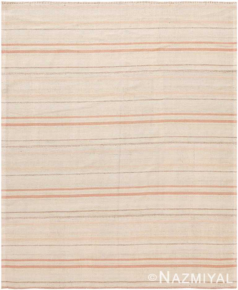Soft Modern Persian Flat Weave Rug 60095 by Nazmiyal NYC