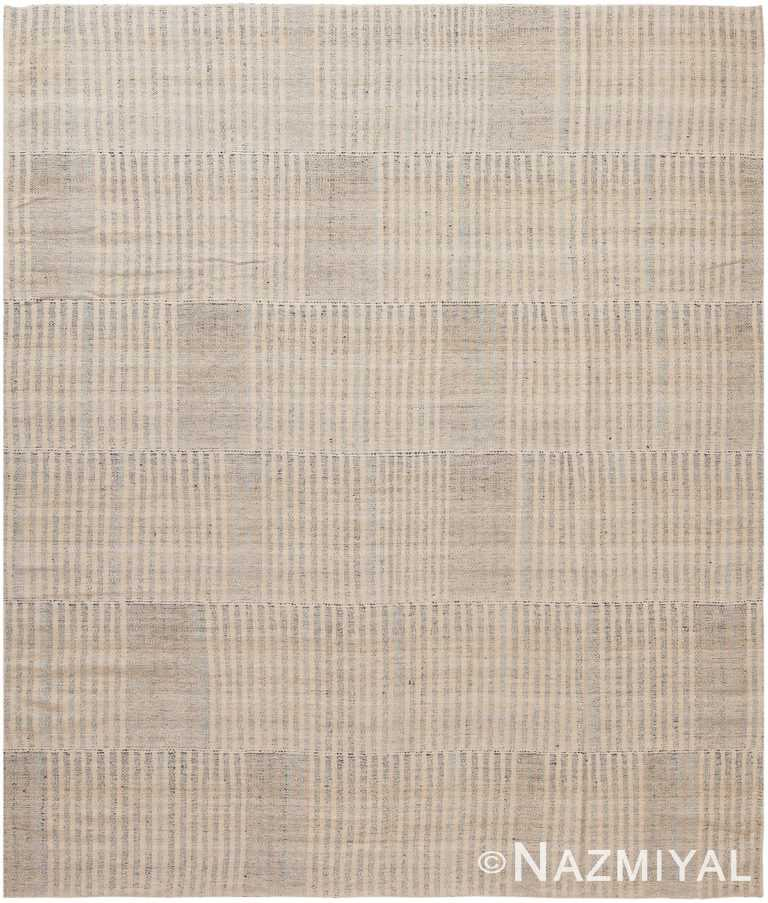 Soft Modern Persian Kilim Rug 60084 by Nazmiyal NYC