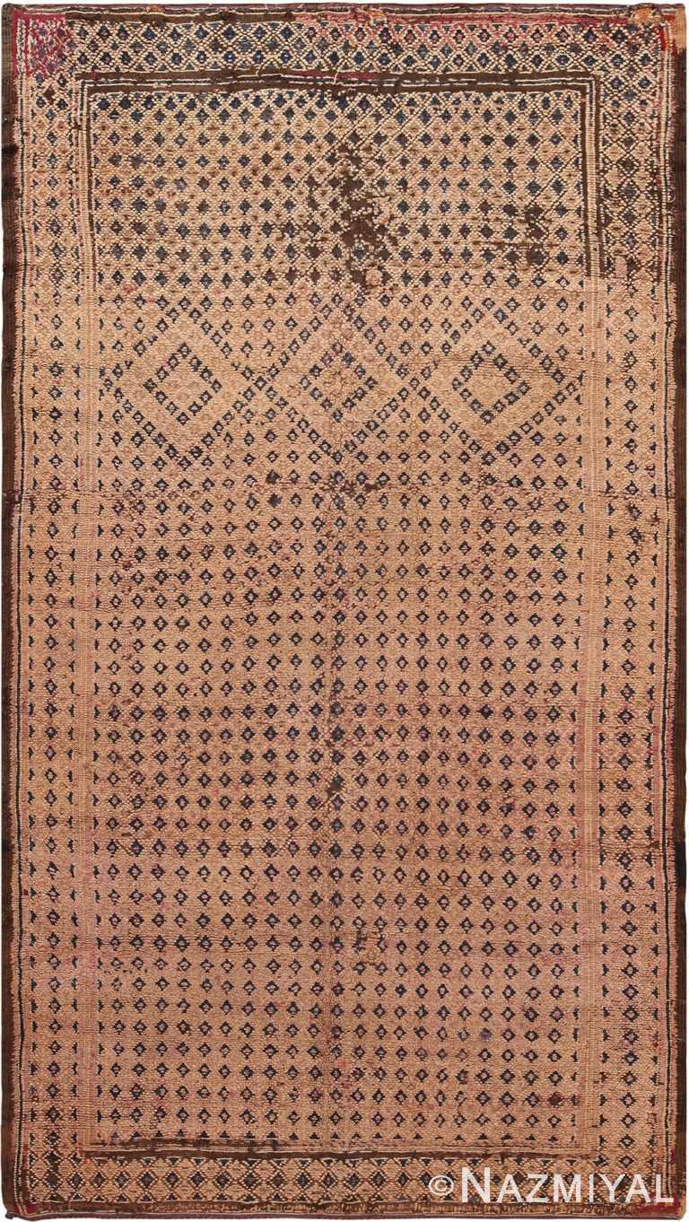 Vintage Brown Geometric Moroccan Rug 70556 by Nazmiyal NYC