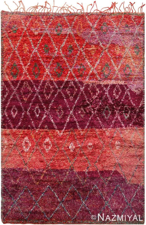 Vintage Moroccan Geometric Purple Rug 70559 by Nazmiyal NYC