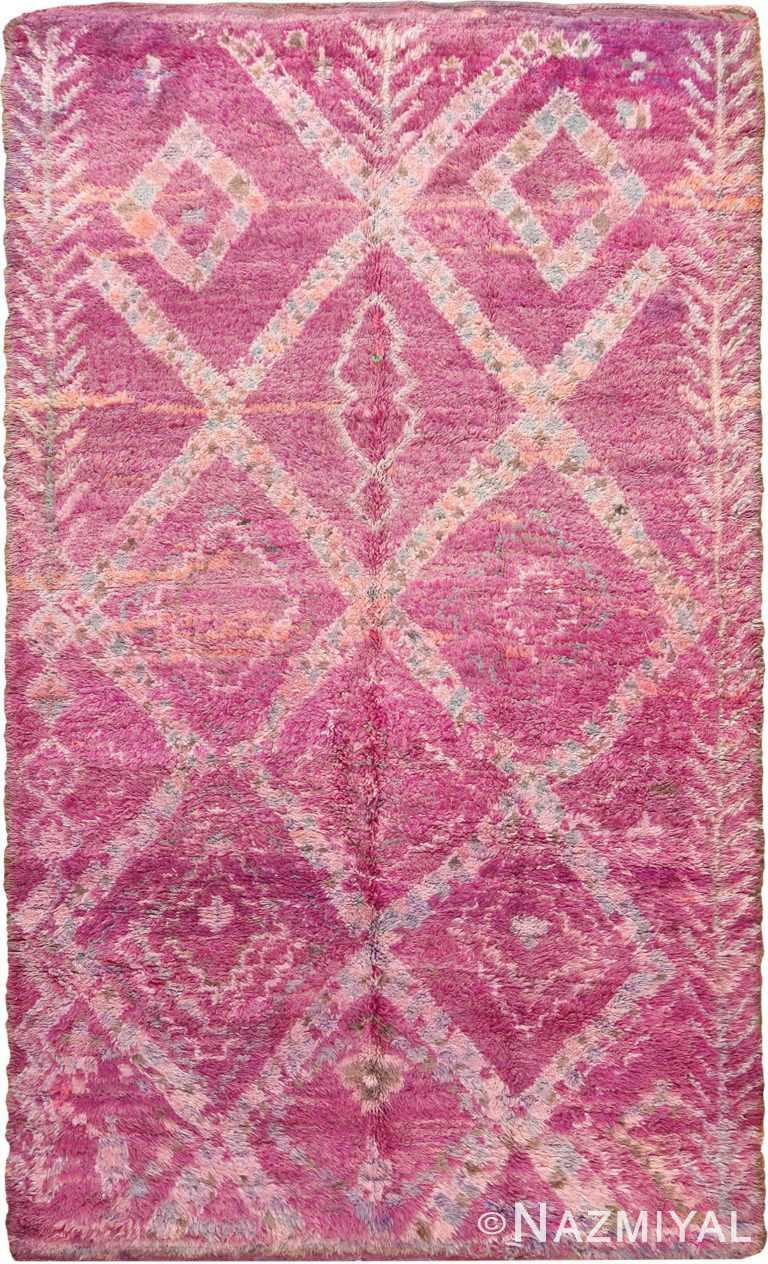 Vintage Moroccan Berber Purple Rug 70566 by Nazmiyal NYC