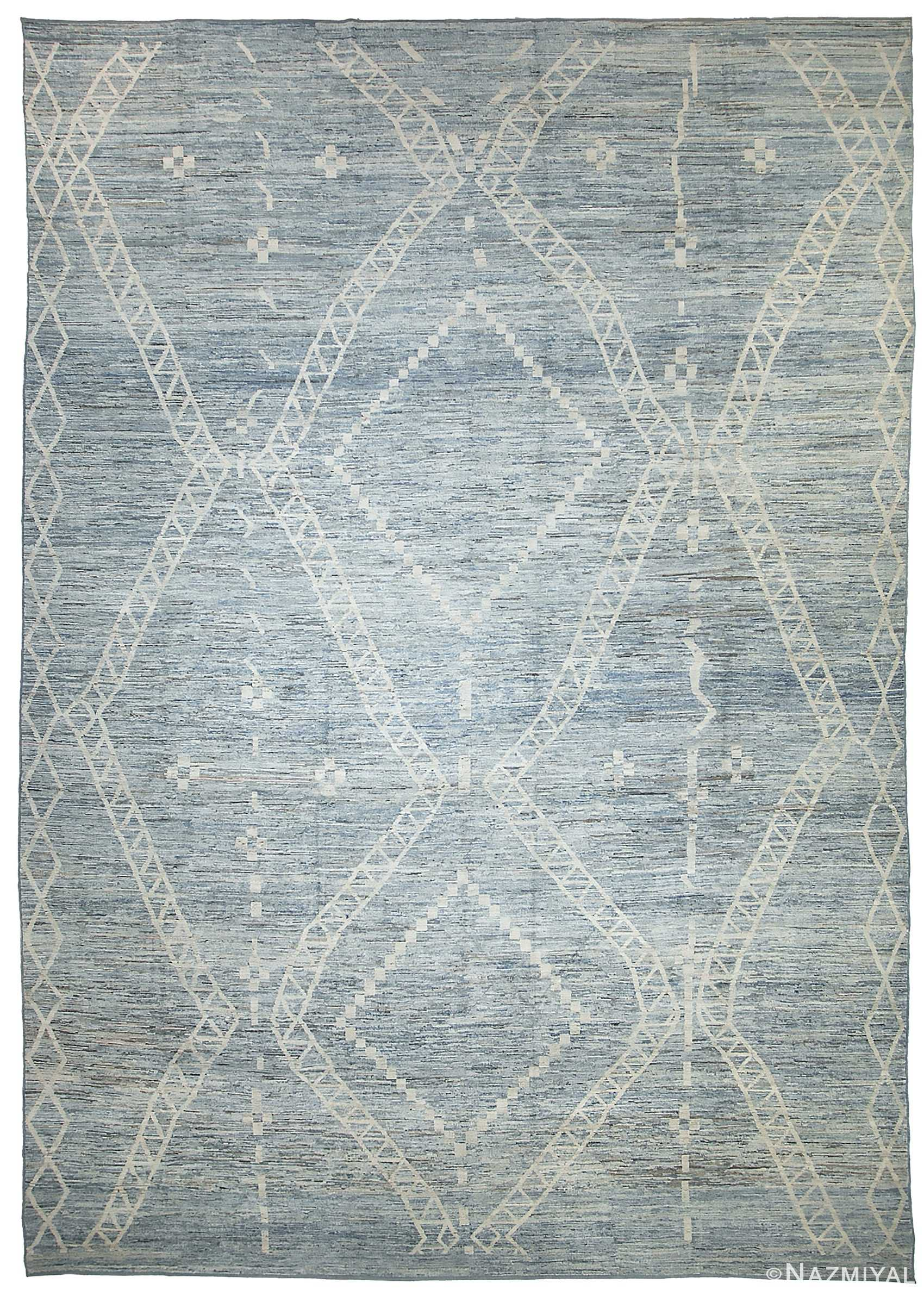 Large Blue Green Modern Moroccan Style