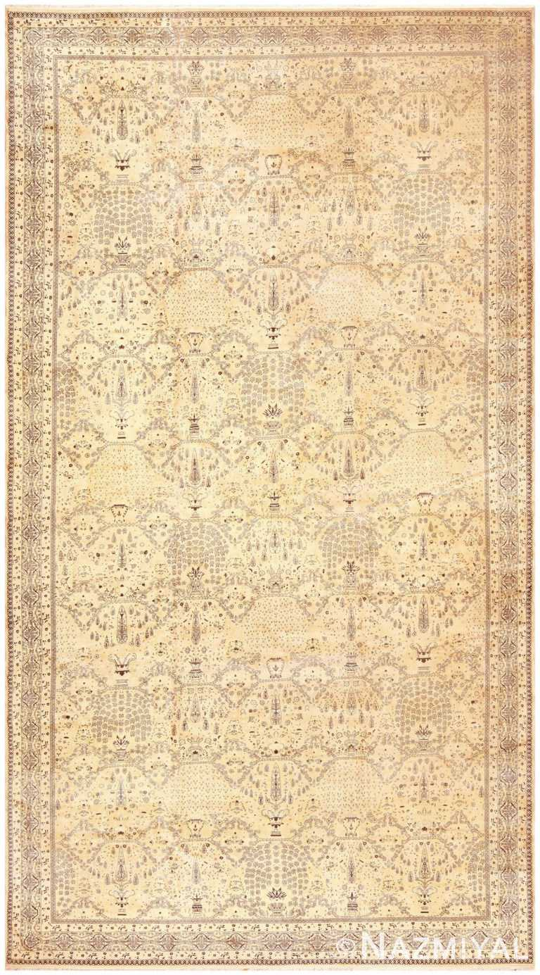 Extra Large Antique Indian Agra Carpet 50110 by Nazmiyal NYC