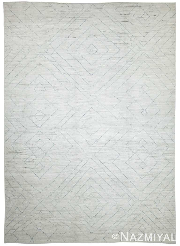 Soft Modern Moroccan Style Afghan Rug 60114 by Nazmiyal NYC