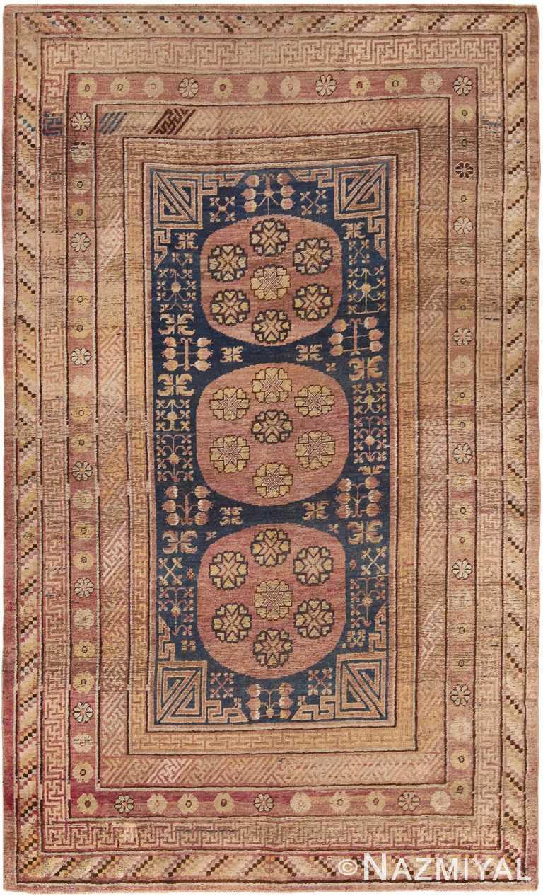 Antique Oriental Khotan Rug 70406 by Nazmiyal NYC