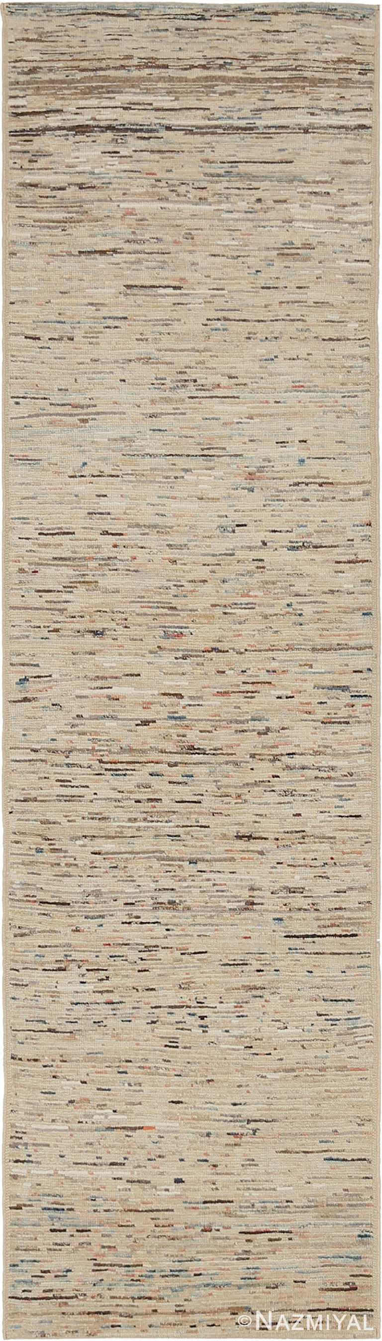 Beige Modern Moroccan Style Runner Rug 60329 by Nazmiyal NYC