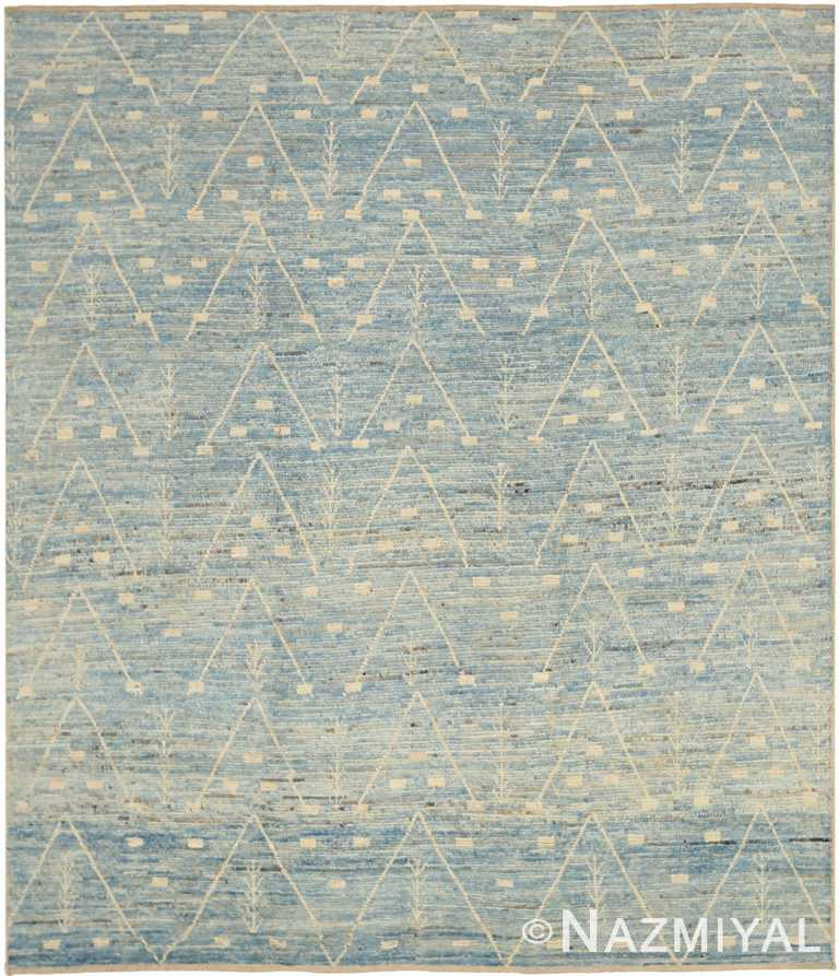 Room Size Modern Moroccan Berber Style Rug 60342 by Nazmiyal NYC