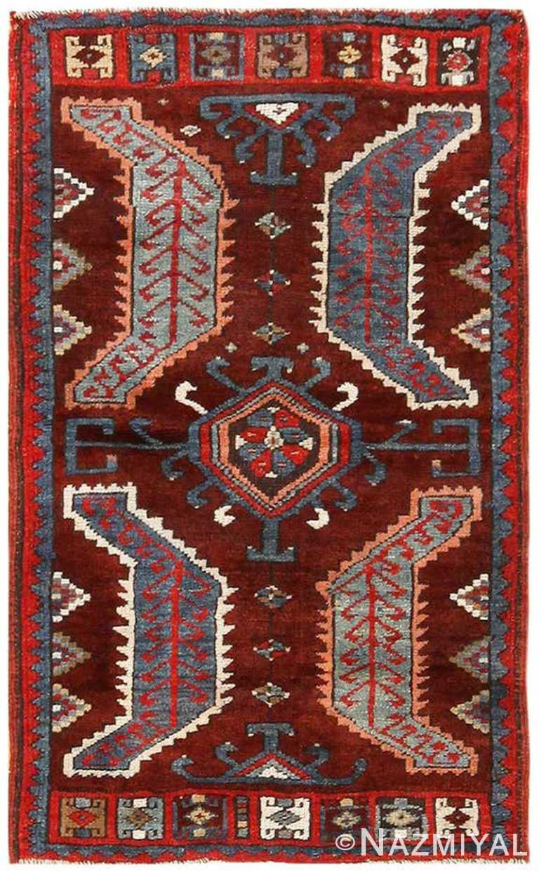 Small Antique Turkish Yastic Rug 49936 by Nazmiyal NYC