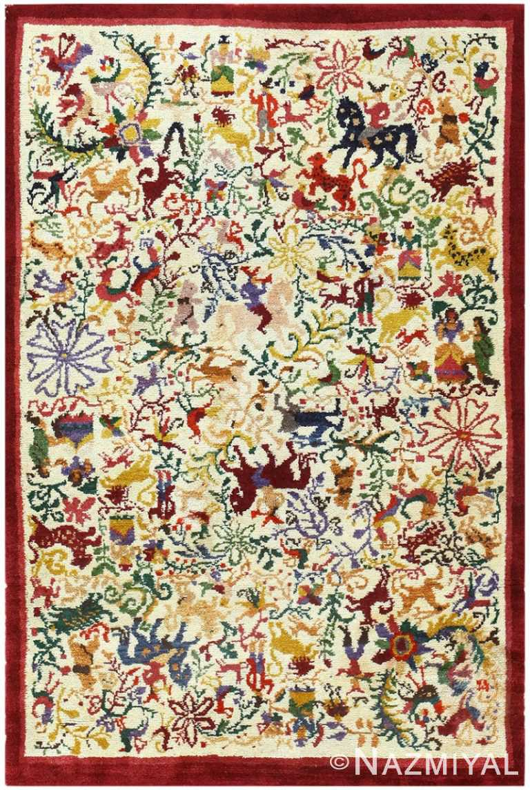 Vintage Ecuadorian Animal Carpet 50039 by Nazmiyal NYC