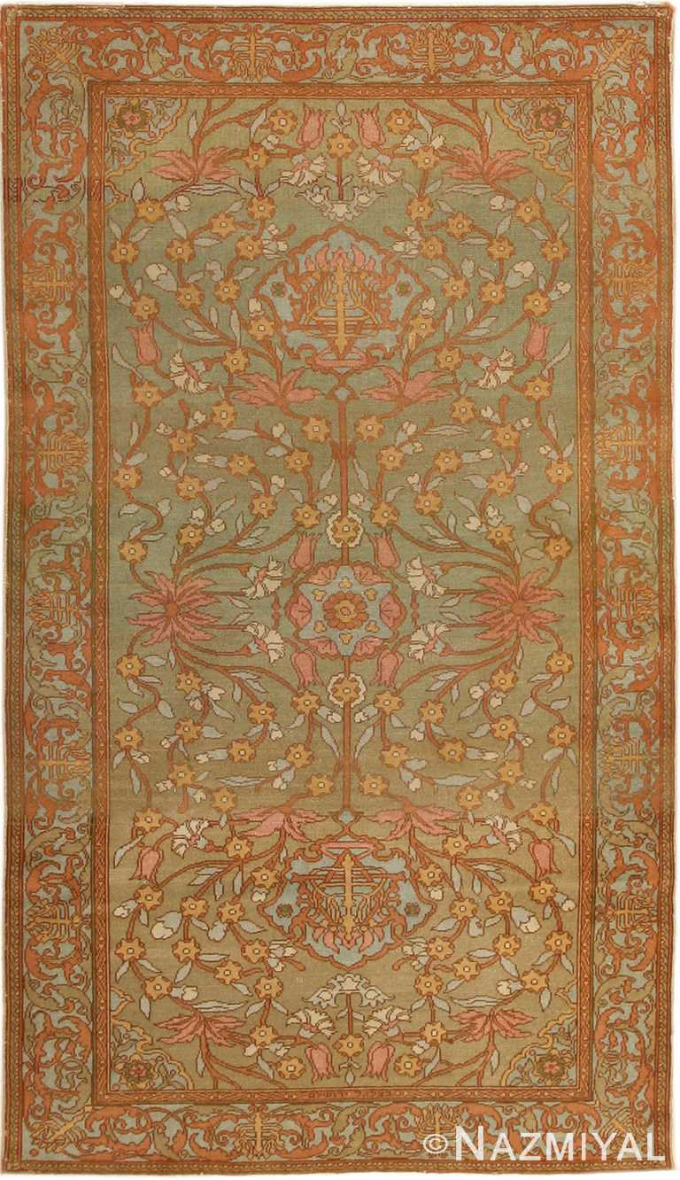 Antique Bezalel Rug from Jerusalem Israel #8514 by Nazmiyal Antique Rugs
