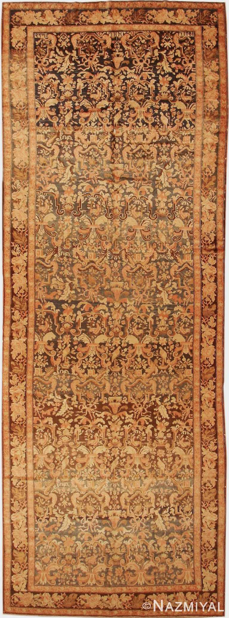 Antique Caucasian Karabagh Wide Hallway Gallery Rug #44114 by Nazmiyal Antique Rugs