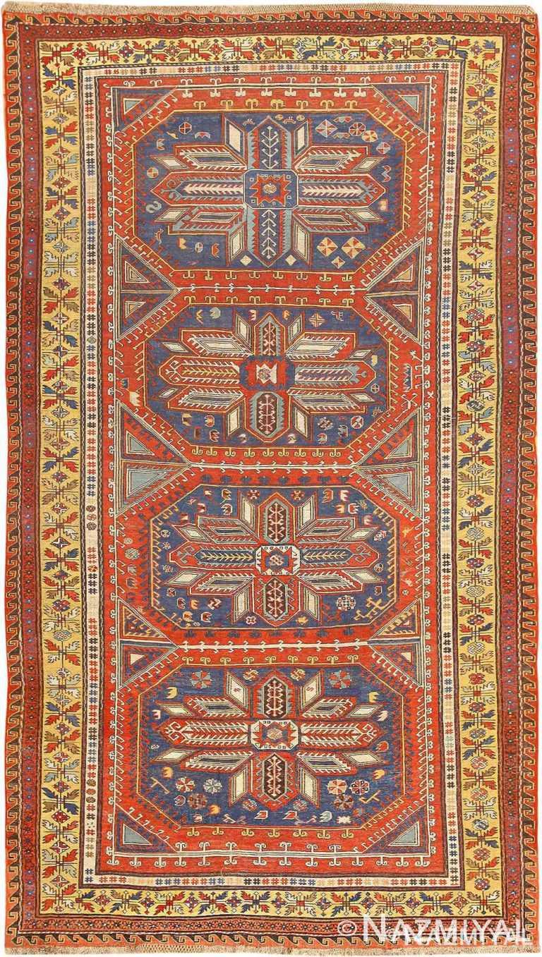 Antique Caucasian Soumak Rug 70625 by Nazmiyal NYC
