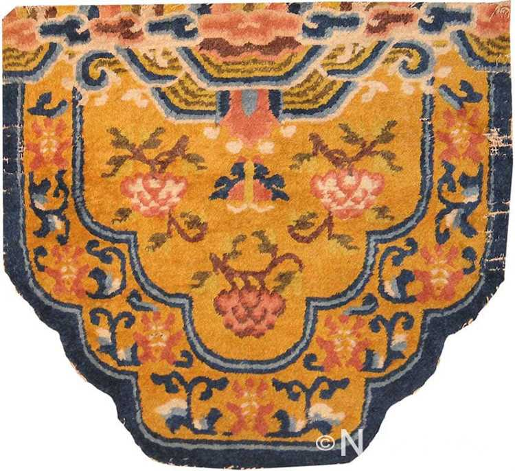 Antique Chinese Seat Horse Cover #2166 by Nazmiyal Antique Rugs