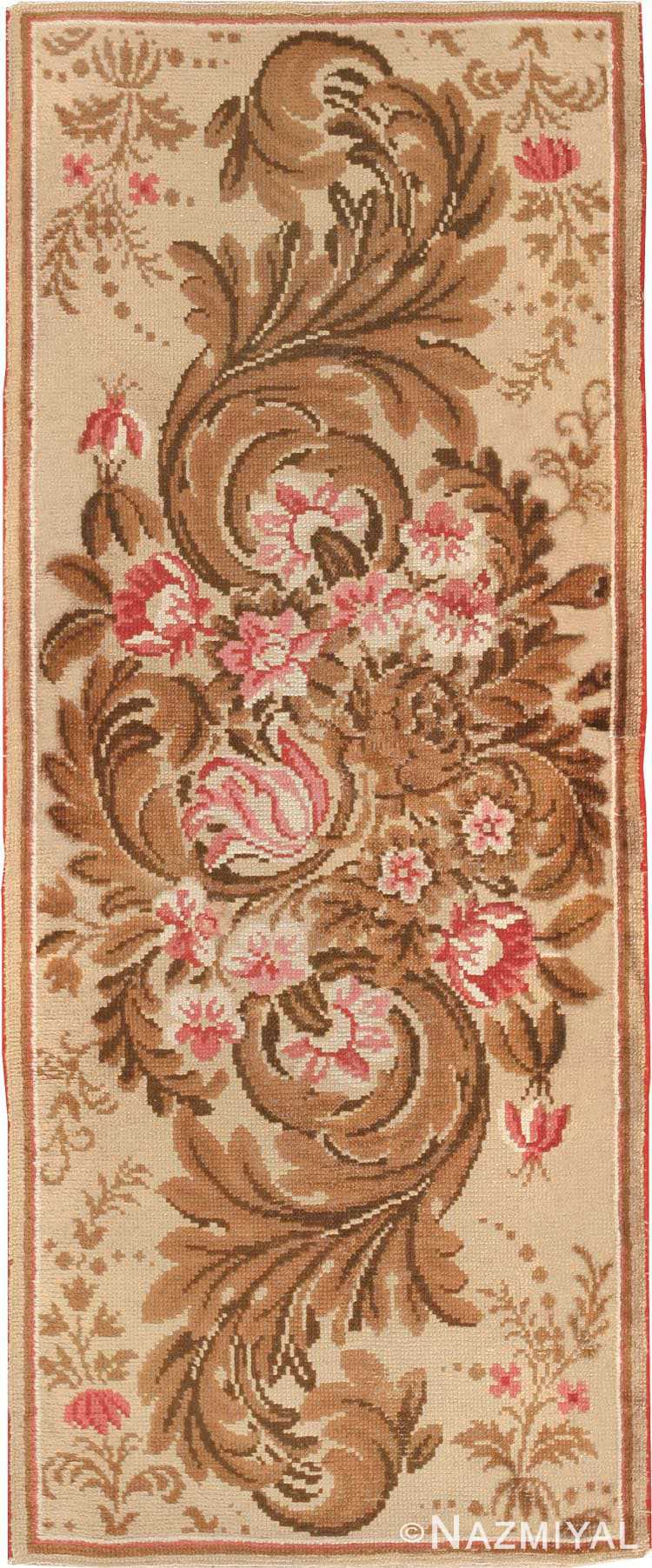 Antique Floral English Rug #2892 by Nazmiyal Antique Rugs